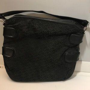 Dkny logo print hand bag shoulder bag black sz L